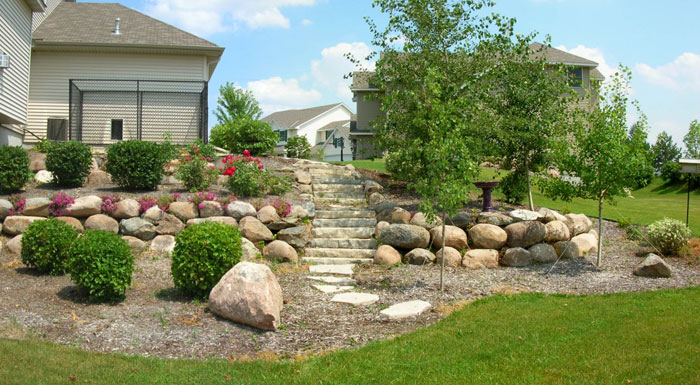 retaining wall minneapolis landscaping minnesota landscape design